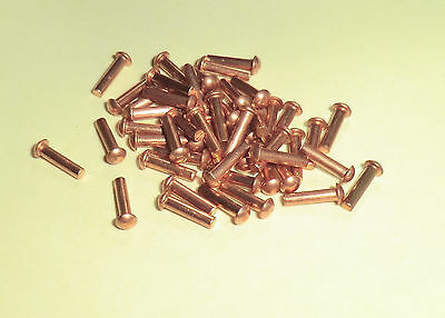50 Kupfernieten  DIN 660 Halbrundkopf 3x6 mm