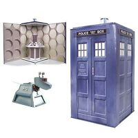 """VINTAGE STYLE DOCTOR WHO 10"""" TARDIS COLLECTIBLE PLAY-SET BRAND NEW OFFICIAL BBC"""