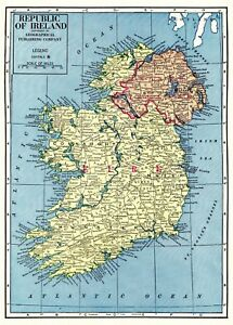 Details about 1963 Vintage IRELAND Map Uncommon Republic of Ireland on england map, county donegal map, belfast map, county tyrone map, bloody sunday, irish people, counties of ireland, great britain, norway map, belgium map, united kingdom, british isles, counties of ireland map, republic of ireland, the netherlands map, europe map, british isles map, rory mcilroy, the troubles, uk map, ireland vacation map, scotland map, united kingdom map, switzerland map, isle of man, luxembourg map, great britain map, ireland road map, serbia map, southern ireland map,