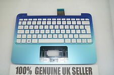 TESTED HP Stream 11-d BLUE Palmrest and UK Keyboard 792906-031