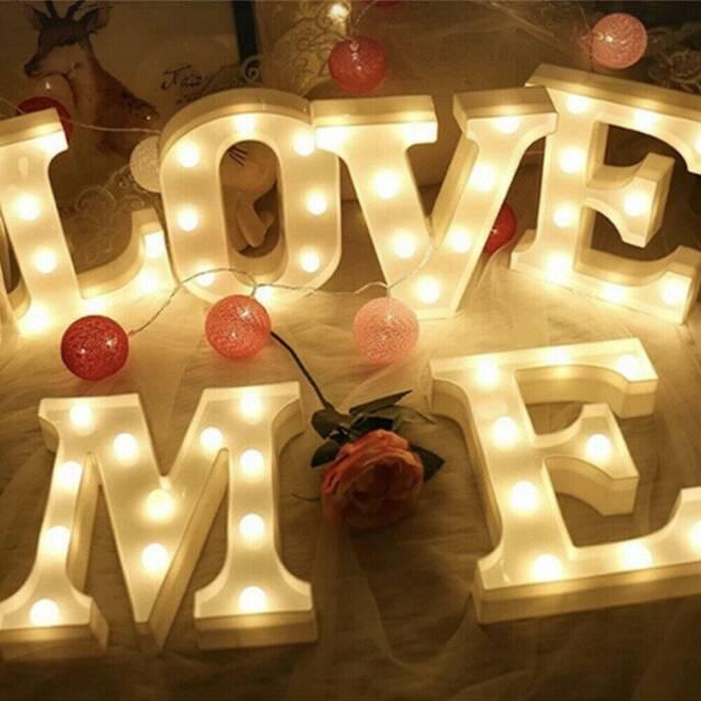 A-Z Light Up Letter LED Alphabet Party Sign Wedding Xmas Festival Stand Decor US