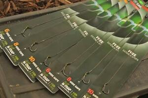 Korda-NEW-DF-Rig-Ready-Pre-Tied-Carp-Fishing-Hair-Rigs-x3-All-Sizes-amp-Types