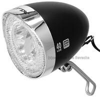40lux Xlc® Led-nostalgielampe Für Nabendynamo Mit Schalter/standlicht/sensor