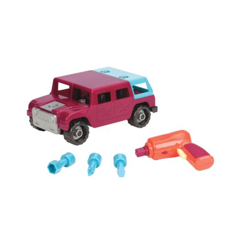 Battat Take-A-Part Toy Vehicles 4x4, Maroon