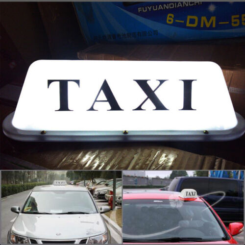 12V Taxi Cab Sign Roof Top Topper Car Super Bright Light Lamp USA Shipping 35cm