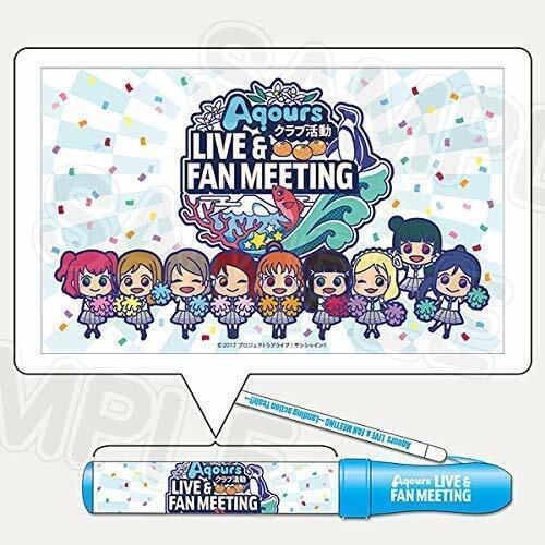 Love Live Aqours Live & Fan Meeting Pen Light Blue Anime Manga F//S Sunshine
