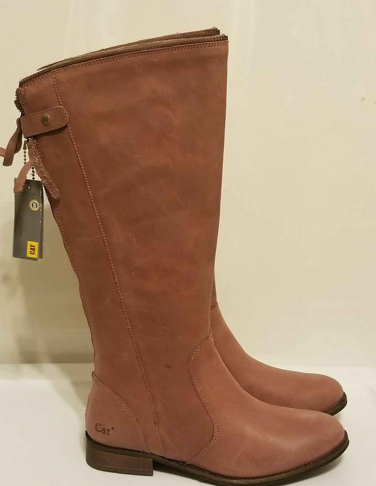 Cat By Caterpillar Layla Cordo Womens Leather Riding Boots 7M, Brand New w/Box