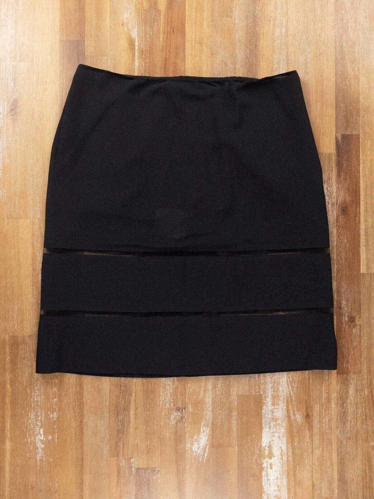 Jil Sander soie noire jupe authentique-taille 40 8 US-Neuf sans étiquette