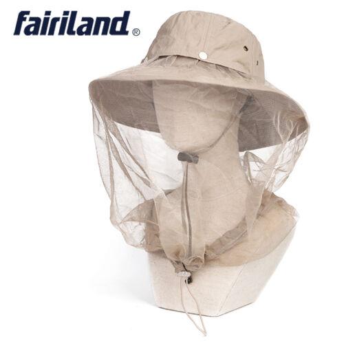 Quick Dry Cap UPF 50+UV Protective Wide Brim Bucket Sun Hat w// Anti-mosquito Net