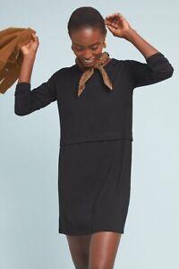 Michaela-Knit-Tunic-Dress-By-Dolan-Size-L-NWT-Rare-Black-Knit