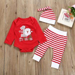 3pcs-Newborn-Baby-Boys-Girls-Christmas-Romper-Tops-Pants-Hat-Outfits-Clothes-Set