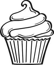Large Cupcake Unmounted Rubber Stamp - 7134