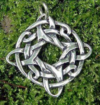 SchöN Vier Elemente Kelten Anhänger 925 Silber Mittelalter Kraftamulett Erdenmutter