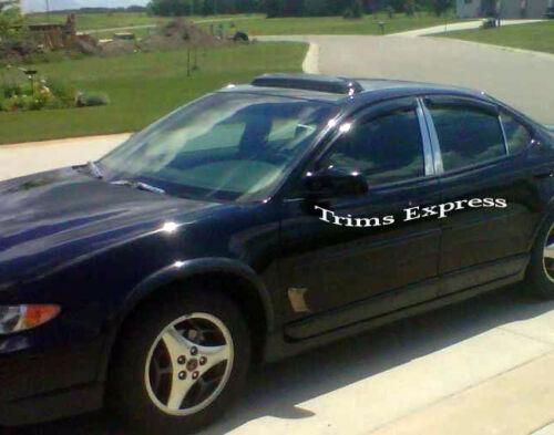 1997-2003 Pontiac Grand Prix Sedan 6Pc Chrome Pillar Post Trim Stainless Trim