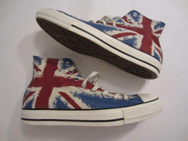 87aa3618b5f Converse Chuck Taylor All Star Hi Top mens shoe sneaker ENGLAND UK Union  Jack 9