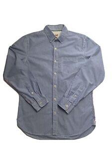 Jag Men's Long Sleeve Blue Strip Shirt Size S
