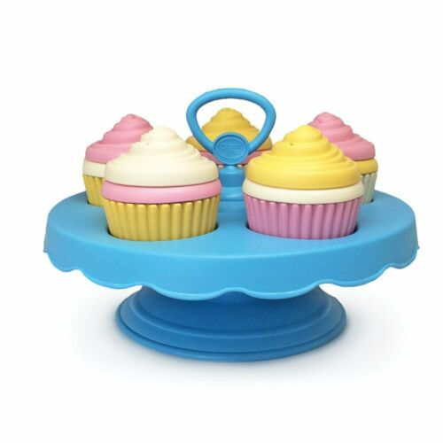 Green Toys Cupcake Set Pretend Play Girl Toddler Kids Food Gift 16 Piece New