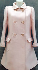 Andre Courreges pale pink wool coat made in Paris France for Harrods c1967
