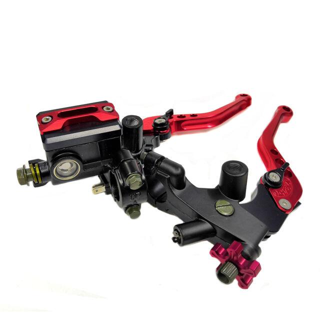 Universal 7/8'' CNC Motorcycle Red Front Brake Clutch Cylinder Lever Reservoir