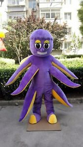 Carnival Halloween Theme.Octopus Mascot Sqiud Costume Cosplay Mascotte Theme Dress