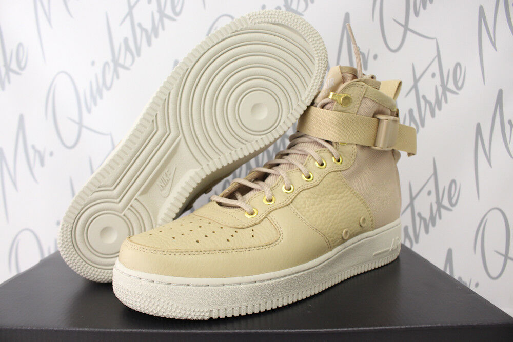 NIKE SF AF1 AIR FORCE 1 MID SZ 8.5 FIELD BOOT MUSHROOM LIGHT BONE 917753 200