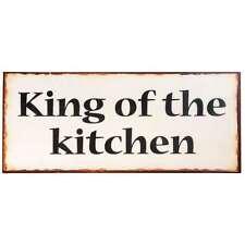 "Magnet-Schild Metall beschichtet 10x5 cm /""Queen of the kitchen/"""