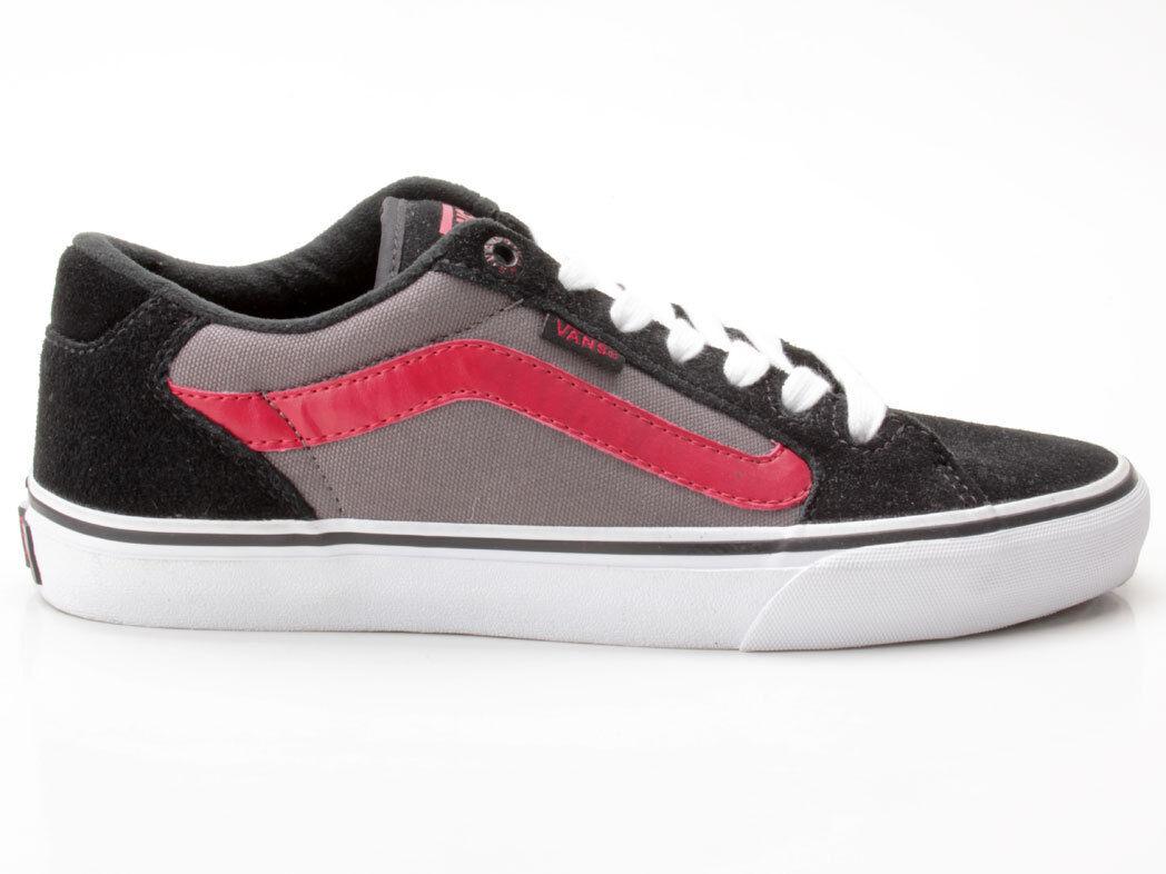 Vans Faulkner schwarz-grau-rot VN-0 SJVDYN Suede Canvas schwarz-grau-rot Faulkner 5243ea