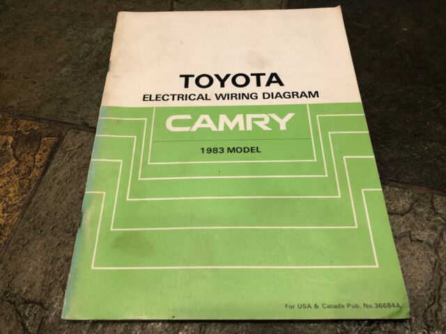 1983 Toyota Camry Electrical Wiring Diagrams Service