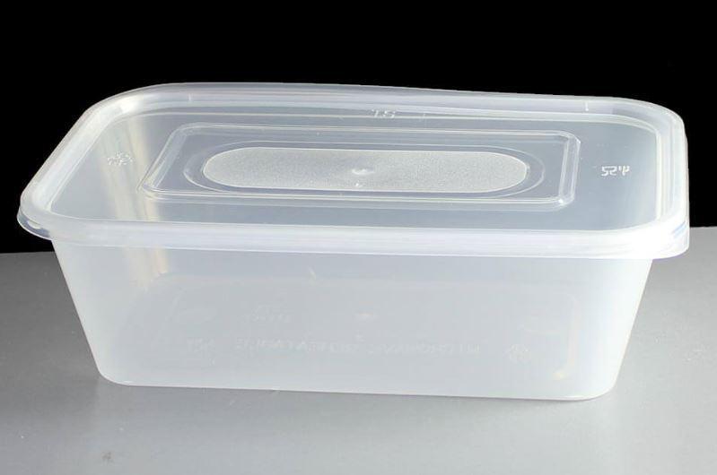 Qualité MARQUEE sécurité alimentaire traiteur en Plastique Micro-ondes Récipient & Couvercle 650CC X 500