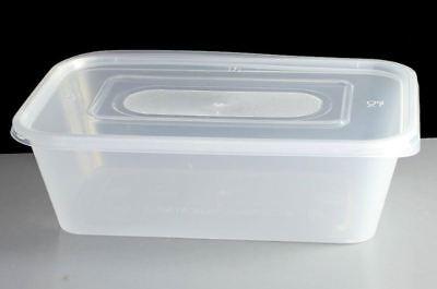 100 X Premium Qualità Degli Alimenti Catering Forno A Microonde In Plastica Contenitore & Coperchio 1000cc-