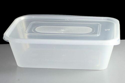 Quality MARQUEE Food Safe TakeAway Plastic MICROWAVE CONTAINER /& LID 750CC x 10