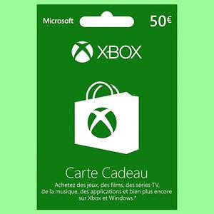 Carte-Xbox-Live-de-50-euro-Xbox-One-Xbox-360-Microsoft-Prepaid-50-Cadeau-FR