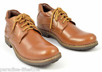 Mens Leather Shoes Laceup Walking Biker Boots Rubber Sole Sizes Fashion Size