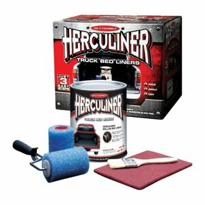 Herculiner HCL0B8 Truck Bed Liner Kit For Pick-Up Truck Beds, Black