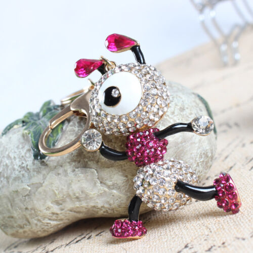 Ants Insect Lovely Crystal Rhinestone Charm Pendant Purse Bag Keyring Key Chain