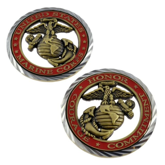 Core Values Us Marines Challenge Coin Ebay