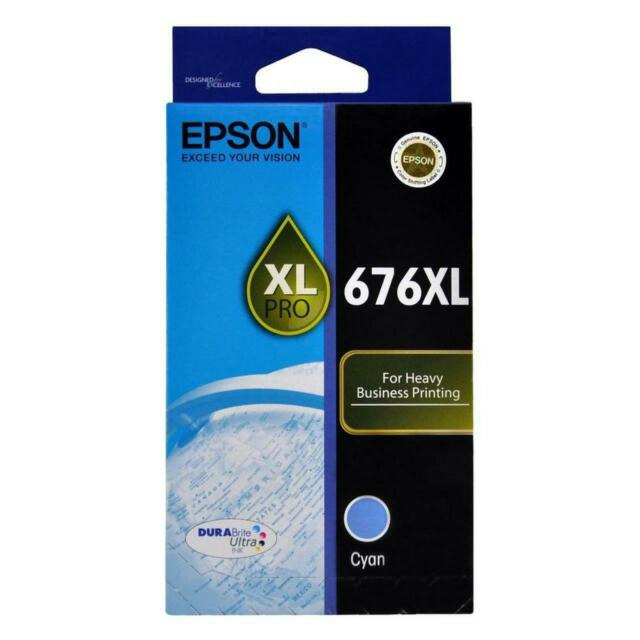 Epson GENUINE 676 676XL Ink Cartridge Cyan C13T676292 Yields 1,200 Pages