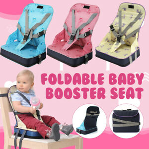 Foldable Baby Toddler Dining High Chair Feeding Booster Seat with Harness