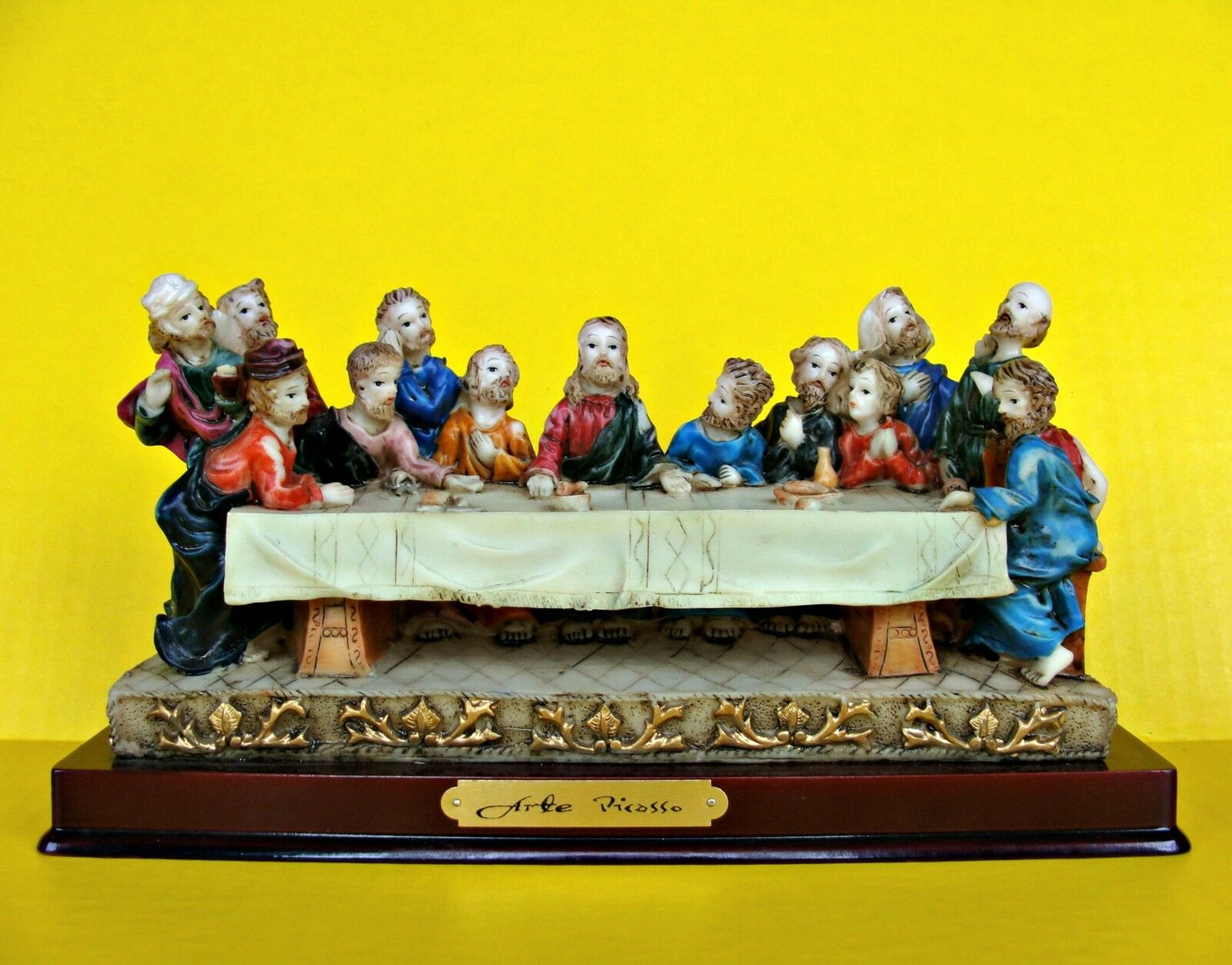 The Lord S Last Supper Statue Figures Jesus Christ Apostles Meal ...