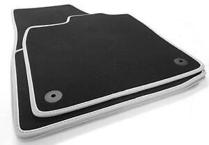 NEU! Fußmatten passend für VW ID3 Premium Velours Automatten Matten 4x Grau Weiß