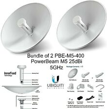 Ubiquiti PBE-M5-400 (2-pack) PowerBeam M5 25dBi 5GHz AirMAX CP... 2-Day Delivery