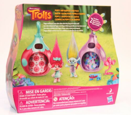 DreamWorks Trolls Poppy /& Harper Pod Pack Toys R Us Exclusive NEW Figures Set
