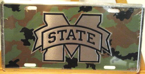 """/""""CAMO/""""  METAL CAR TAG MISSISSIPPI STATE"""