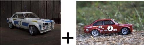 2x rc car body shells 1/10 scale Ford Escort mk1 + mk2