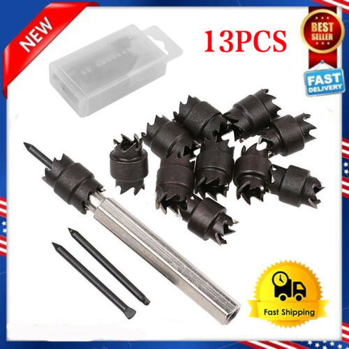 """13pcs 3//8 /""""High Speed Double Rotating Face Drill Welding Tool Remover Cutter"""