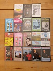 audio music cassette tapes bundle joblot x 18 as pictured mct09