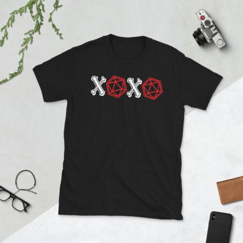 XOXO Hugs and Kisses D20 DiceDungeon Dragon GiftShirt