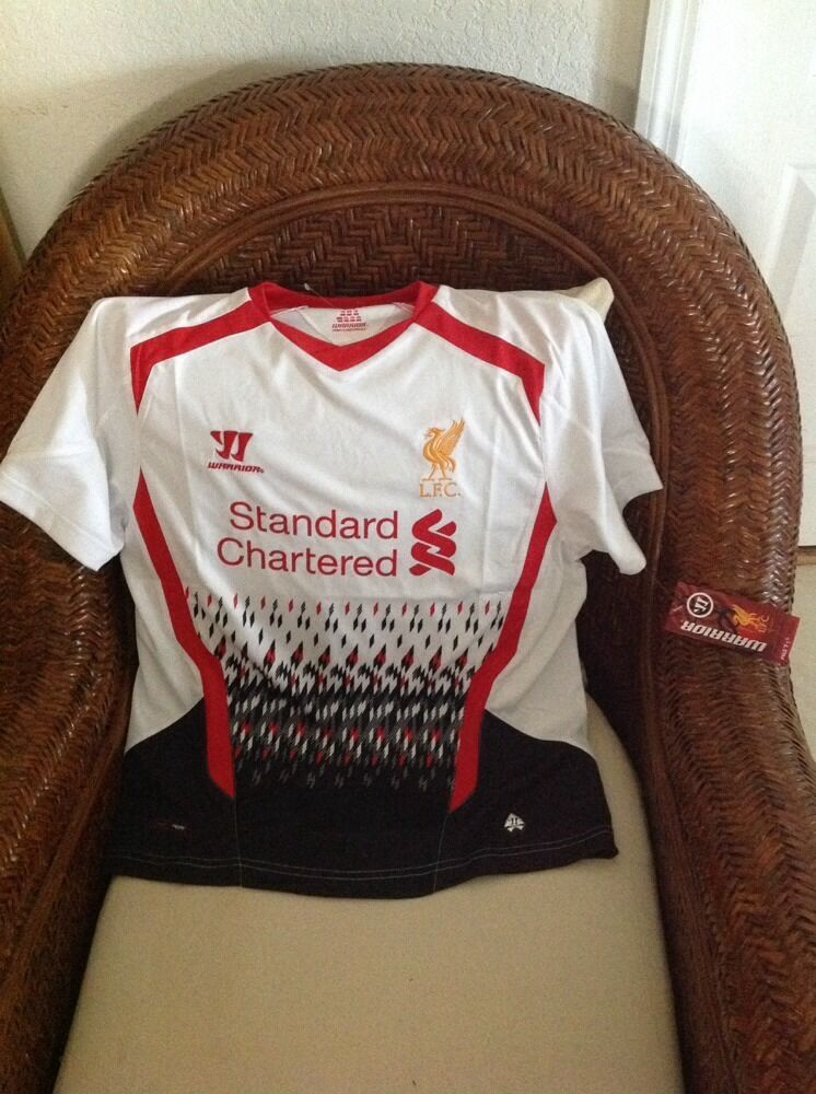 Liverpool LFC premier league warrior red futbol soccer jersey NWT Size 14 womens