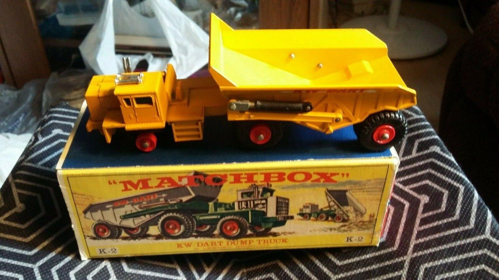 MATCHBOX LESNEY K-2 King Taille, KW DART Camion benne, En parfait état, dans sa boîte, tous d'origine