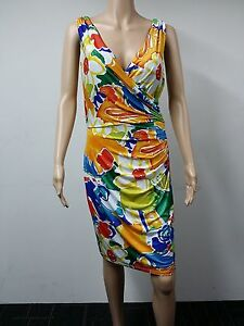 NEW-Ralph-Lauren-Size-10-Sleeveless-Dress-Floral-Multicolored-134